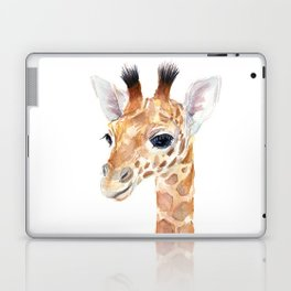Baby Giraffe Cute Animal Watercolor Laptop & iPad Skin