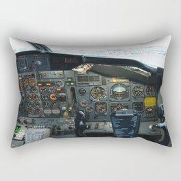737 Airliner Cockpit Rectangular Pillow