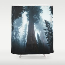 General Sherman in the Mist Shower Curtain