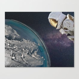 Travel by space Canvas Print