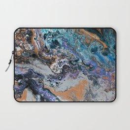 Molten Time (flow art on canvas) Laptop Sleeve