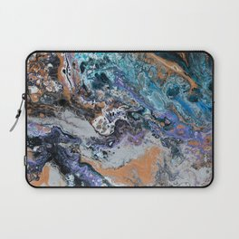 Molten Time (flow art on canvas) Laptop Sleeve