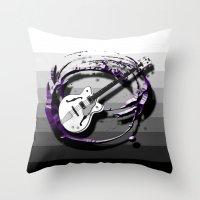 bass Throw Pillows featuring Music - Bass by yahtz designs