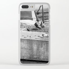 Old Grave Clear iPhone Case