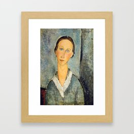 "Amedeo Modigliani ""Girl in a Sailor's Blouse"" Framed Art Print"