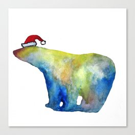 Bear Santa Canvas Print