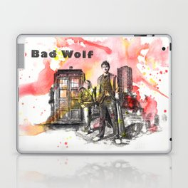 Doctor Who 10th Doctor David Tennant With Companion Rose Tyler Laptop & iPad Skin