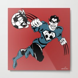 Soccer Hero Metal Print
