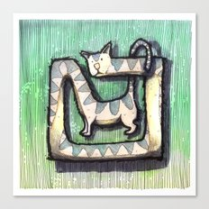 SQUARE CAT Canvas Print