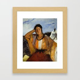 Gypsy with a Cigarette, Edouard Manet Framed Art Print