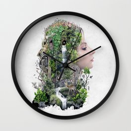 Duality of Nature Wall Clock