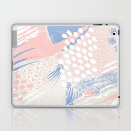 wild cats winter print (rose quartz and serenity) Laptop & iPad Skin
