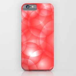 Gentle intersecting red translucent circles in pastel colors with a ruby glow. iPhone Case