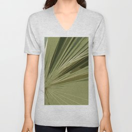 The Green Tones Of A Palm Frond Unisex V-Neck
