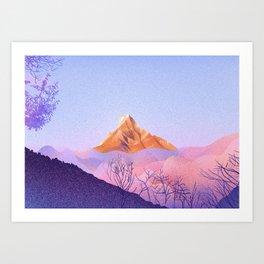 Mt. Fishtail (Machapuchare) 22,943 ft • Nepal Trekking Series Art Print