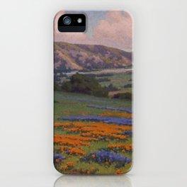 Poppies & Lupine Near Santa Paula, California by John Marshall Gamble iPhone Case