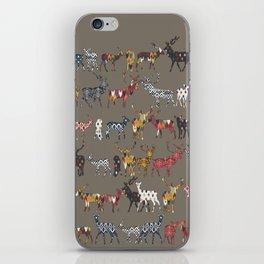 mushroom spice deer iPhone Skin