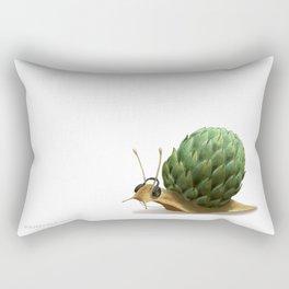 Snail DJ Rectangular Pillow