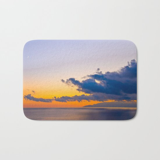 colors of the sunset Bath Mat