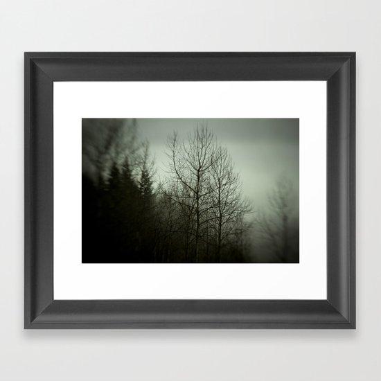 Tree mist Framed Art Print
