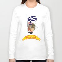 scotland Long Sleeve T-shirts featuring Greetings from Scotland by mangulica
