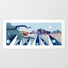 Polar Fish Art Print