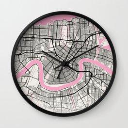 New Orleans - Louisiana Neapolitan City Map Wall Clock