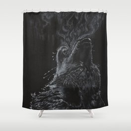 Wolf - The Uneasy Chill Shower Curtain