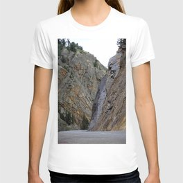 Gateway to the Uncompahgre Gorge - Around this Curve is a Frightening Road T-shirt