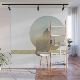 Cozy Cute Cat Wall Mural