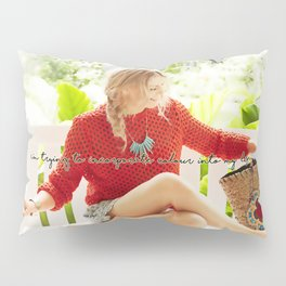 I'm trying to incorporate colour into my life. Pillow Sham