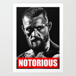 NOTORIOUS CONOR MCGREGOR Art Print