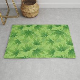 Cannabis khaki pattern Rug