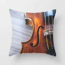 Violin Photography Throw Pillow