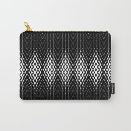 Geometric Black and White Diamond Scales Pattern Carry-All Pouch