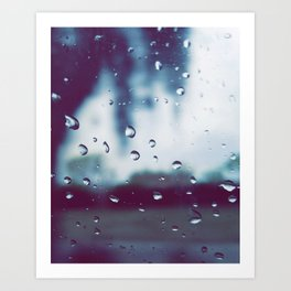 Rain drops are the earths way of crying Art Print