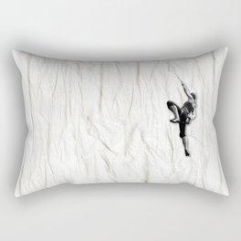 Woman Climbing a Wrinkle Rectangular Pillow