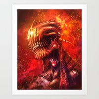 mars Art Prints featuring Mars by Vincent Vernacatola