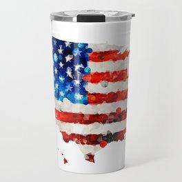 Map of The United States Of America 23 - Sharon Cummings Travel Mug