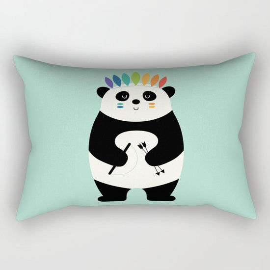Be Brave Panda Rectangular Pillow