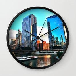 Chicago Riverwalk Wall Clock