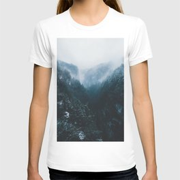 Foggy Forest Mountain Valley - Landscape Photography T-shirt