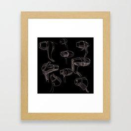 Earbud Pattern Framed Art Print