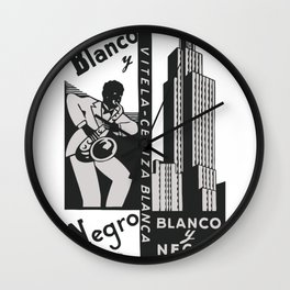 BLANCO Y NEGRO rolling papers Wall Clock