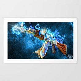Machine Gun 8  Art Print
