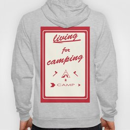 vintage mountaines camping design Hoody