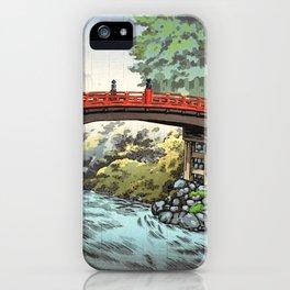Tsuchiya Koitsu - Nikko, Sacred Bridge - Japanese Vintage Woodblock Painting iPhone Case