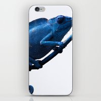 chameleon iPhone & iPod Skins featuring Chameleon by DistinctyDesign