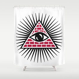Freemasonic eye Shower Curtain