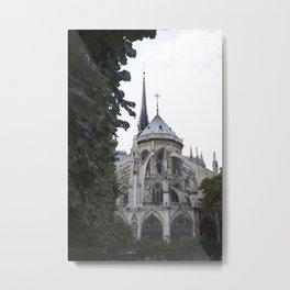 Notre Dame Ivy Metal Print